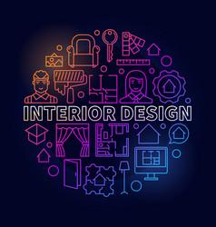 colorful interior design vector image