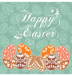 Happy easter design elements vector image