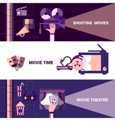 Horizontal Cinema And Moive Theatre Banners vector image