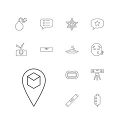 13 bubble icons vector image