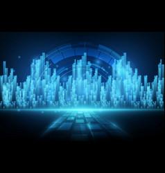 abstract background digital element design vector image