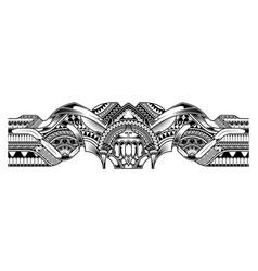 Abstract tribal art tattoo border vector