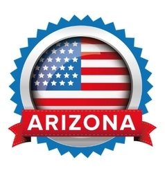 Arizona and USA flag badge vector image