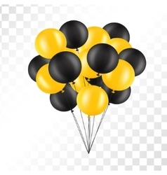 Balloons on transparent background bunch vector