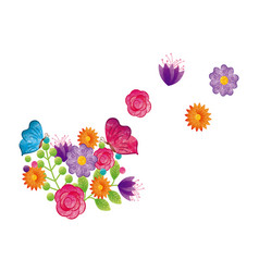 Beautiful flowers design vector