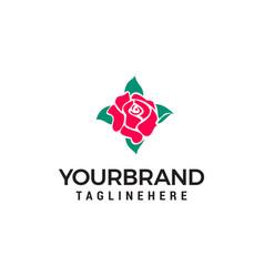 beauty rose logo design concept template vector image