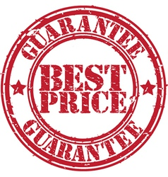 Best Price guarantee stamp vector
