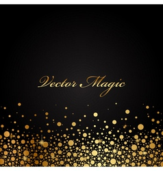 black and gold luxury background vector image
