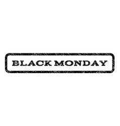 Black monday watermark stamp vector