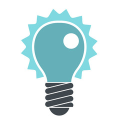 Blue electric bulb icon isolated vector