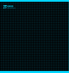 blue grid seamless on black background graph vector image