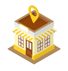 building location isometric vector image