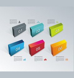 Business design template with bright 3d panels vector