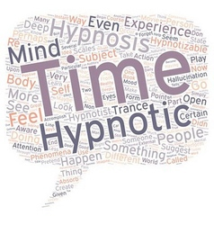 Can you be hypnotized text background wordcloud vector image