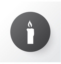 candle icon symbol premium quality isolated fire vector image
