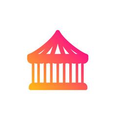 Carousels icon amusement park sign vector