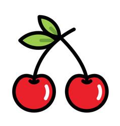 Cherry linecolor vector