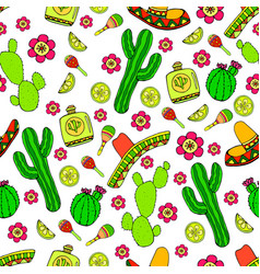 colorful cartoon hand-drawn doodles on subject vector image