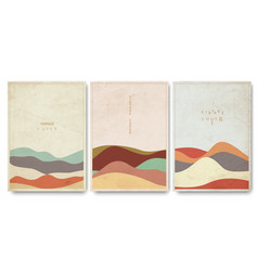 Covers templates set with geometric curve vector