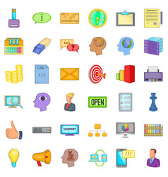 creative marketing icons set cartoon style vector image