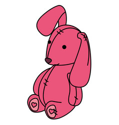 cute teddy rabbit icon vector image