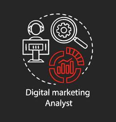 Digital marketing analyst chalk concept icon smm vector