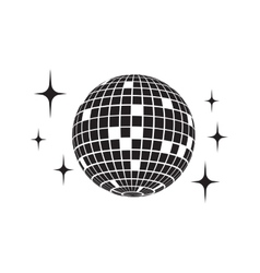 Disco ball icon vector