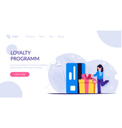 Discount card customer loyalty program people vector