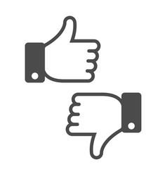 dislike like icon vector image