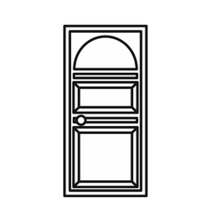 Door with an arched glass icon vector