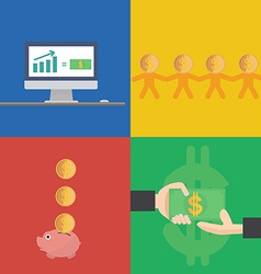 Financial concept flat design vector image