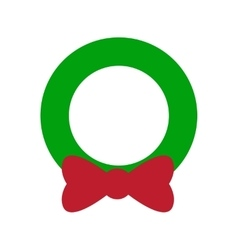 Flat icon with long shadow Christmas wreath vector