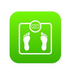 floor scales icon digital green vector image