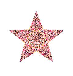Flower star symbol - colorful ornamental vector