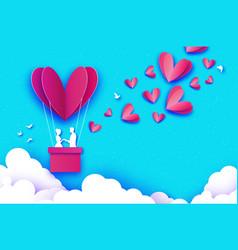 Flying cupid - little angel love pink heart in vector