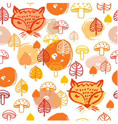 Fox pattern vector