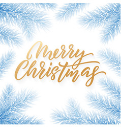gold christmas text card on white background vector image
