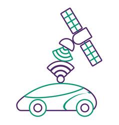 Gps navigation satellite help car destination vector