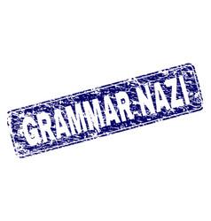 Grunge grammar nazi framed rounded rectangle stamp vector
