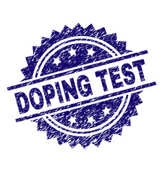 Grunge textured doping test stamp seal vector
