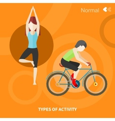 Healthy lifestyles daily routine vector