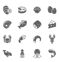 Icon set - raw food material vector