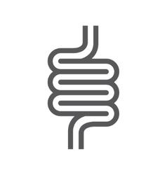 Intestines symbol or icon vector