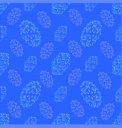 isometric snowflake seamless pattern vector image
