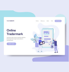 landing page template of online copyright and vector image