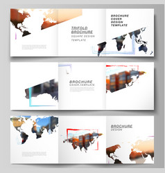 layout square format cover templates vector image