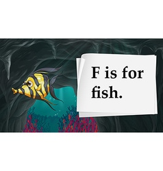 Letter F is for fish vector