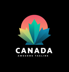 logo canada gradient colorful style vector image
