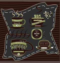 logo coffee green vector image