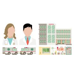 Medical set flat design vector